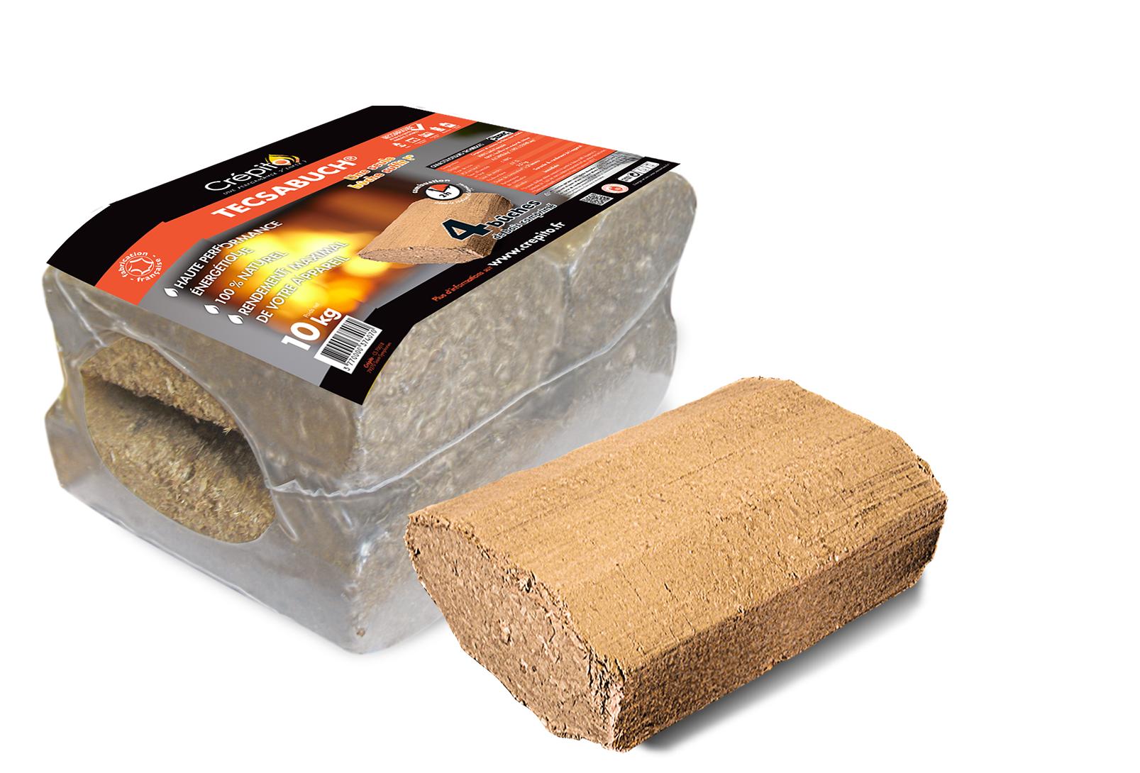 B u00fbche densifiée rectangulaire briquette de bois compressé Crépito # Buches De Bois Densifié