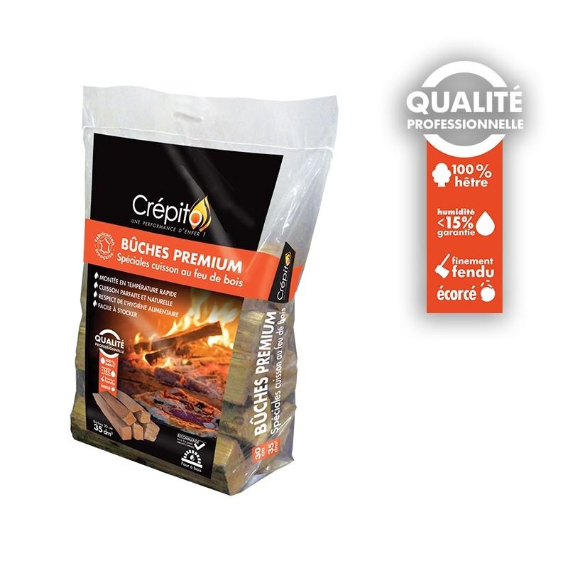 Sac bûches Premium spéciales cuisson feu de bois